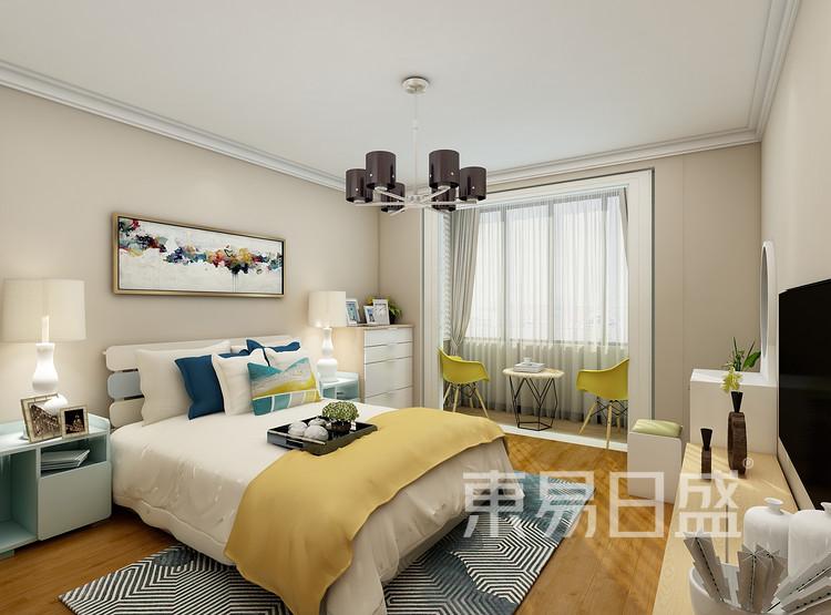 建发中泱天成现代简约99㎡卧室装修效果图