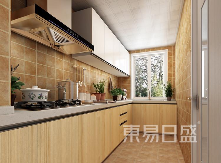 建发中泱天成现代简约90㎡厨房装修效果图