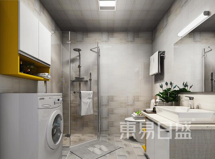 建发中泱天成现代简约90㎡卫生间装修效果图