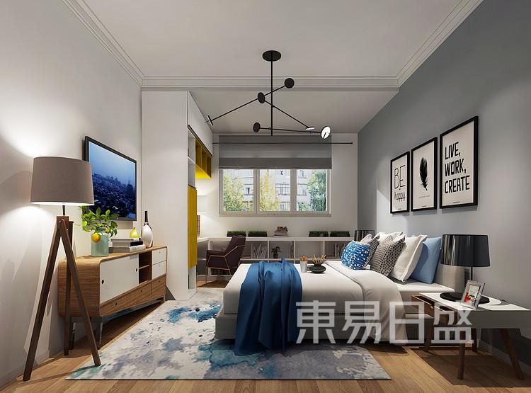 建发中泱天成现代简约90㎡卧室装修效果图
