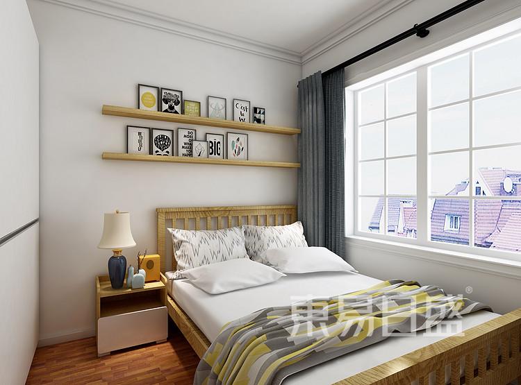 金科观天下现代简约106㎡卧室装修效果图