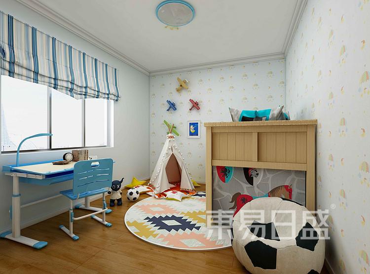 龍湖小區現代簡約兒童房