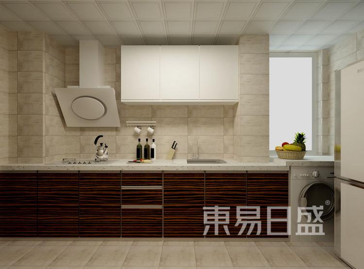 金科观天下新中式106㎡厨房装修效果图
