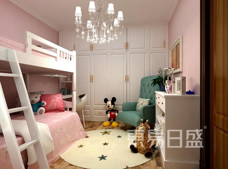 金科观天下新中式106㎡儿童房装修效果图
