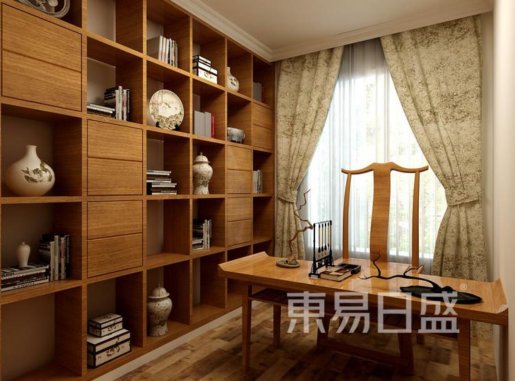金科观天下新中式106㎡书房装修效果图