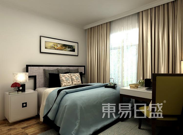 金科观天下新中式106㎡卧室装修效果图