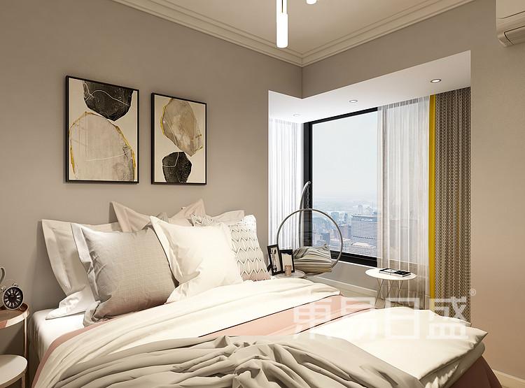 莱安意境  现代简约风格效果图  120 卧室