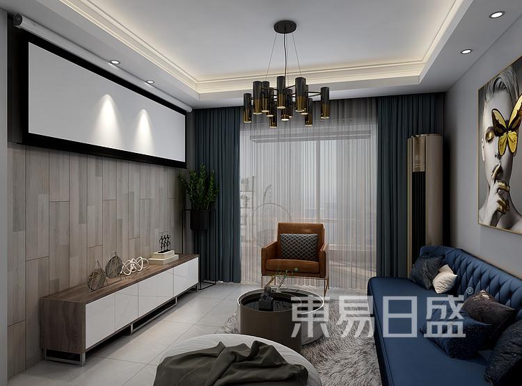莱安意境  现代简约风格效果图  120 客厅