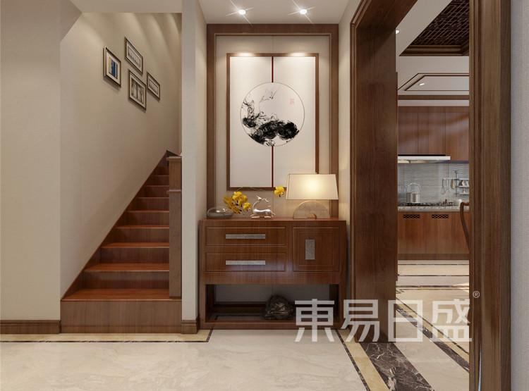 新中式风格楼梯间效果图