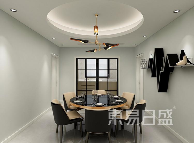 万达天樾  148平米  现代简约风格效果图  餐厅