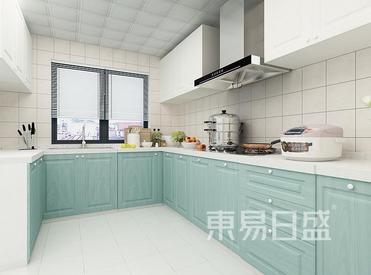 保利悦玺现代简约125㎡厨房装修效果图