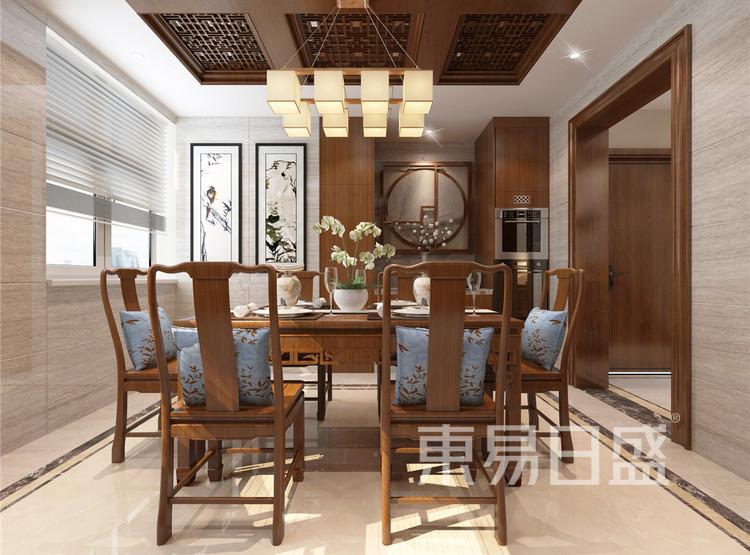 新中式风格餐厅效果图
