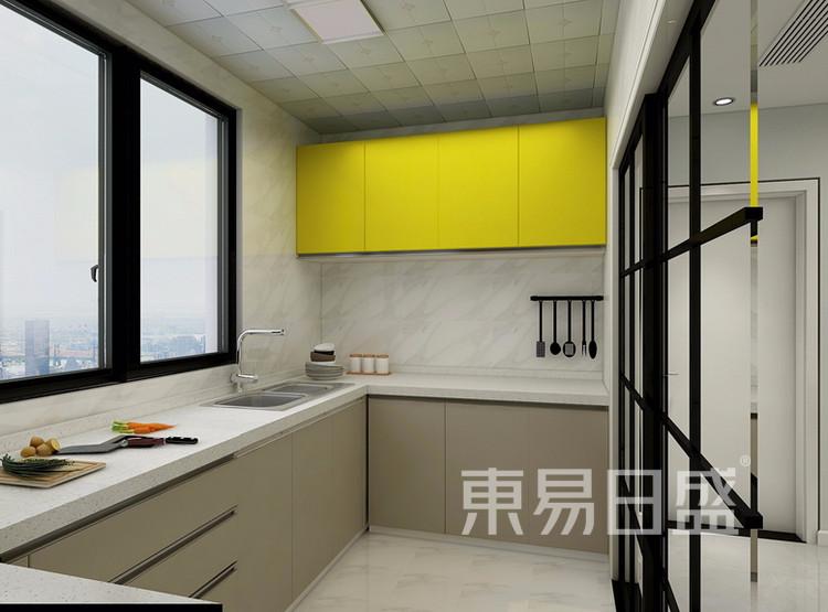 万达天樾  148平米  现代简约风格效果图  厨房
