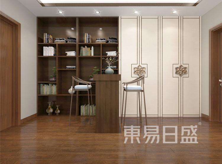 新中式风格吧台效果图