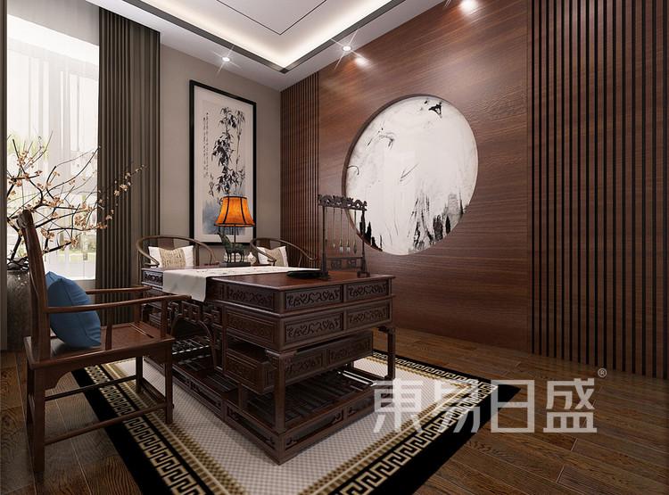 新中式风格书房效果图