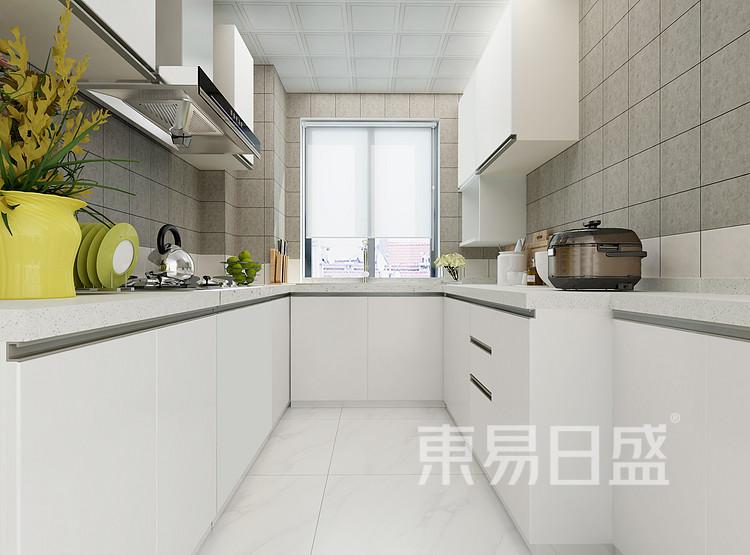 水漾花城现代简约122㎡厨房装修效果图