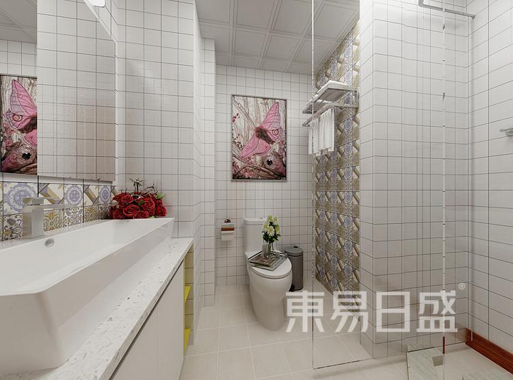 水漾花城现代简约122㎡卫生间装修效果图