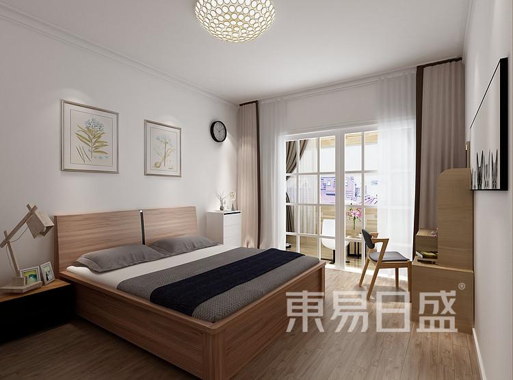 水漾花城现代简约122㎡卧室装修效果图