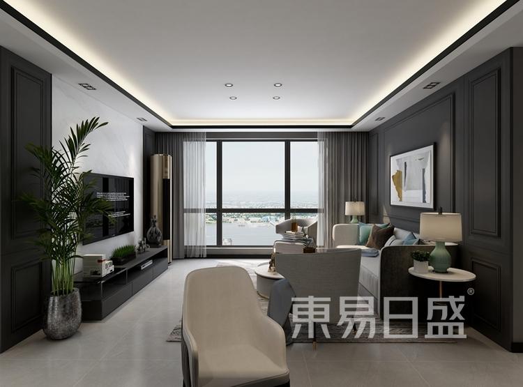 现代风格案例:现代风格客厅