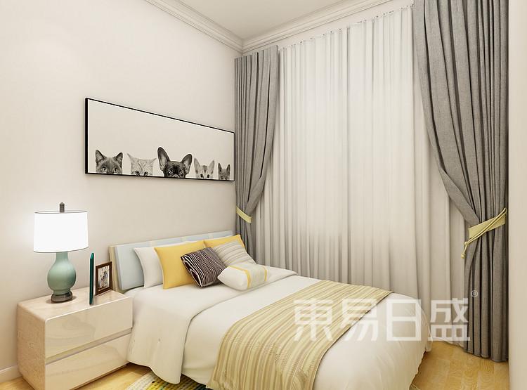 太湖汇景混搭93㎡卧室装修效果图