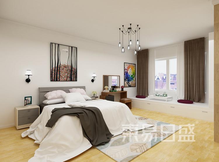 现代简约风格装修效果图-卧室