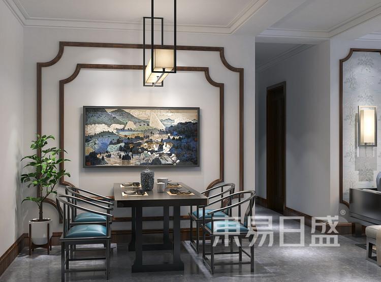 新中式风格装修效果图-餐厅