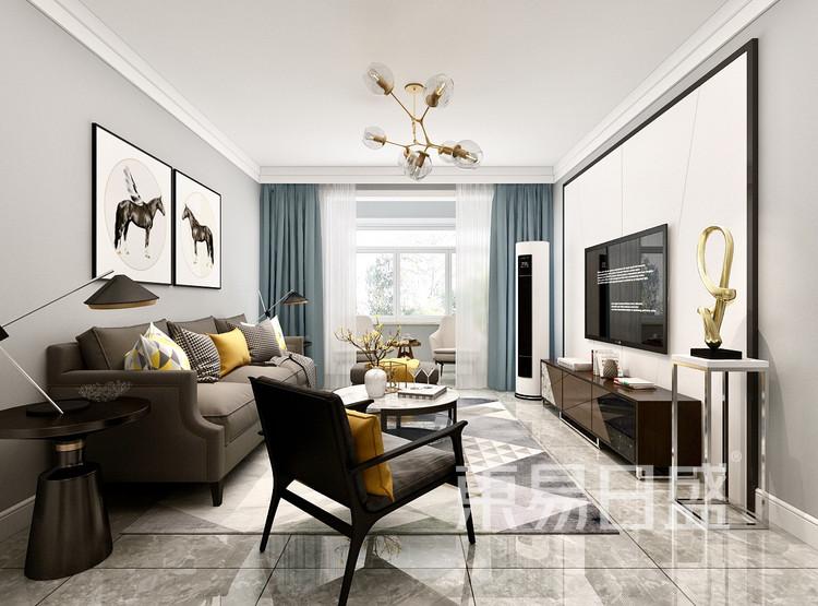 大连装修设计-北欧风格-客厅