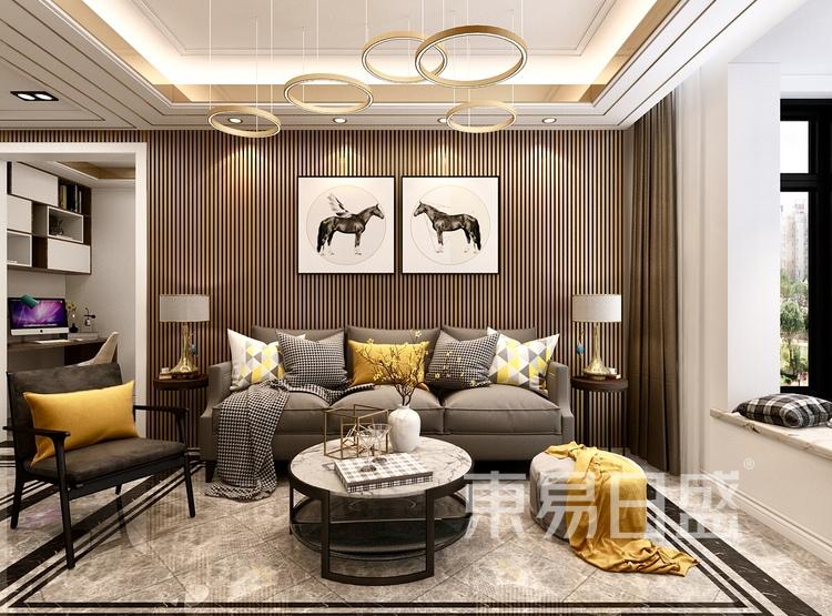 大连装修-现代简约-客厅