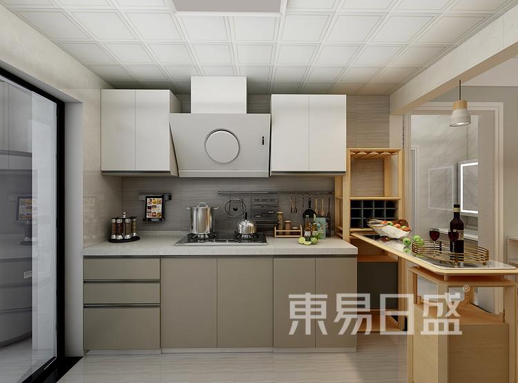 速美超级家怎么样?银海泊岸北欧风格厨房装修效果图