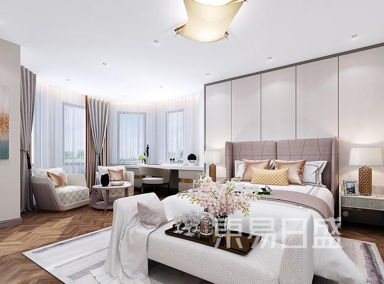 翡翠山装修设计案例-卧室装修效果图