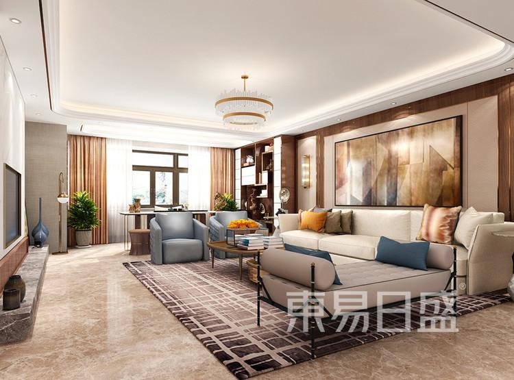 翡翠山装修设计案例-客厅装修效果图