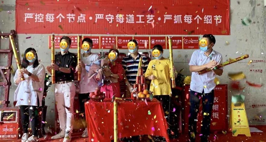 江杨家园120平三居室装修在施工地照