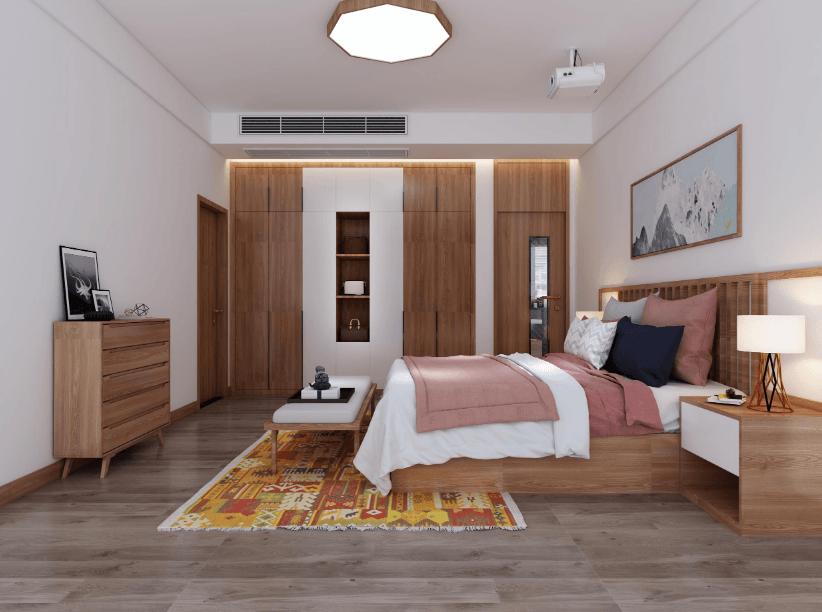 活在当下可盐可甜的160㎡单身公寓,日式原木风格装修案例