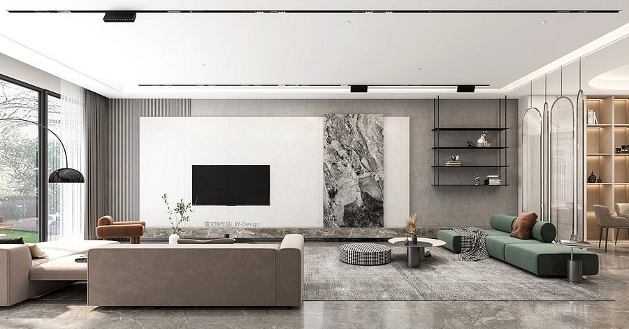 客厅装修效果图-佛山二手旧房子装修技巧有哪些?