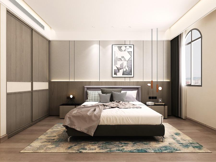 卧室装修效果图-佛山二手旧房装修