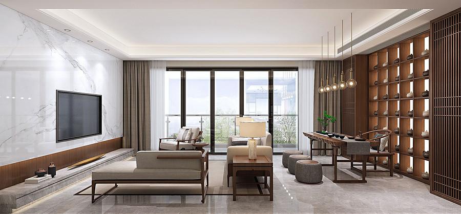 客厅装修效果图-佛山别墅设计