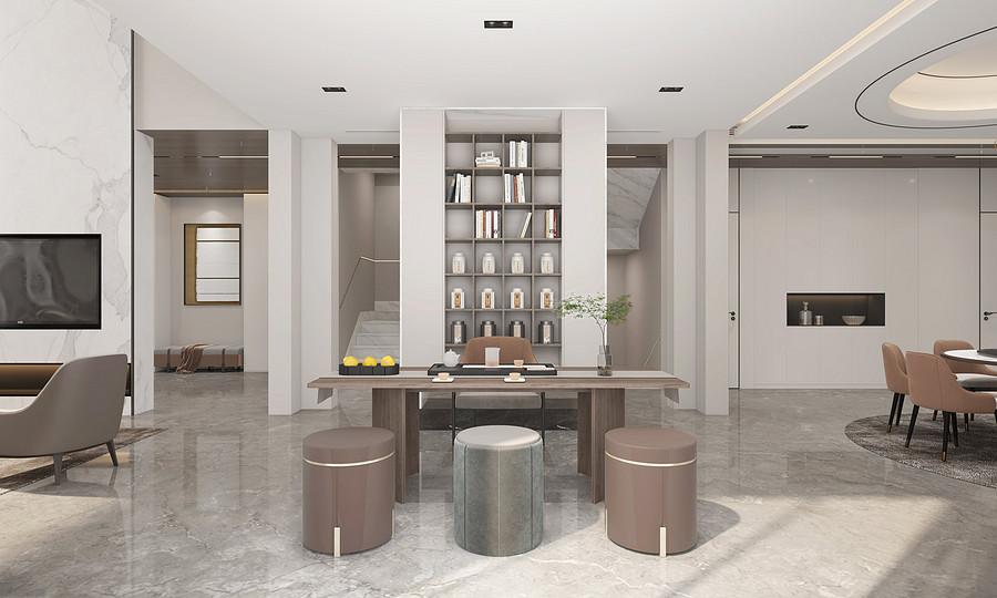 茶室装修效果图-佛山顺德陈村装修公司哪家好呢?
