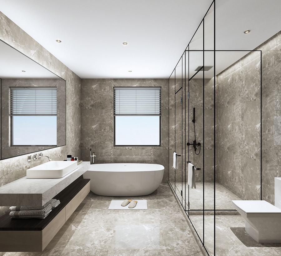 卫生间装修效果图-佛山顺德陈村装修公司哪家好呢?