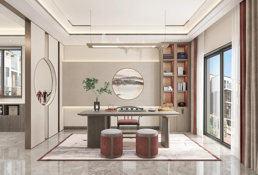 茶室装修效果图-佛山新房装修公司