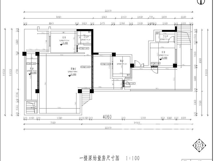 原始户型图一楼