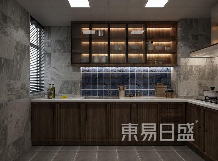 鲁能星城-现代轻奢-厨房装修效果图