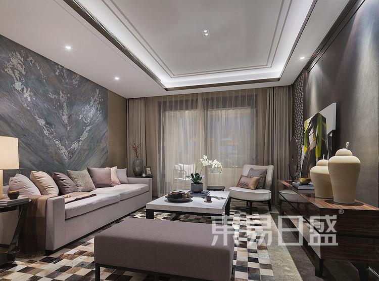 金辉中央名著-现代简约格-客厅装修效果图