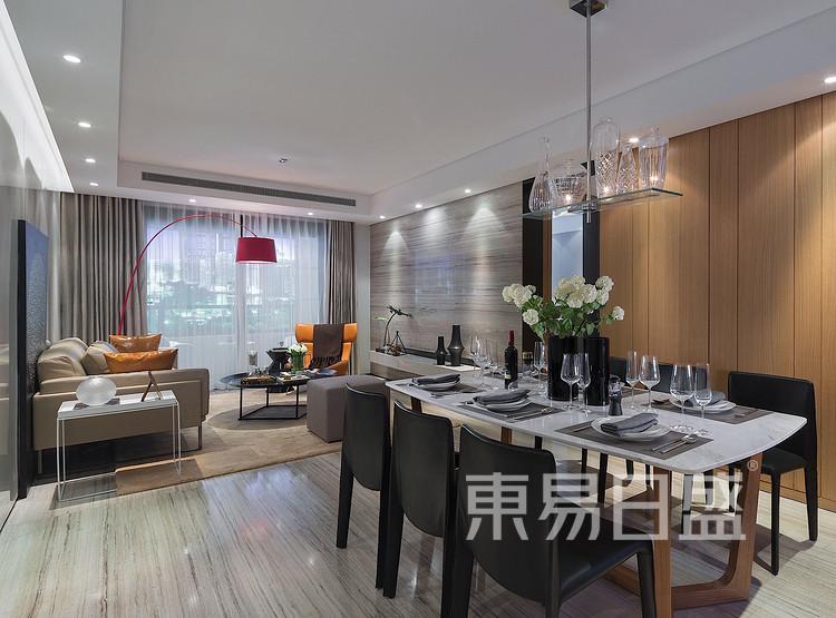 金辉中央名著-现代简约格-餐厅装修效果图