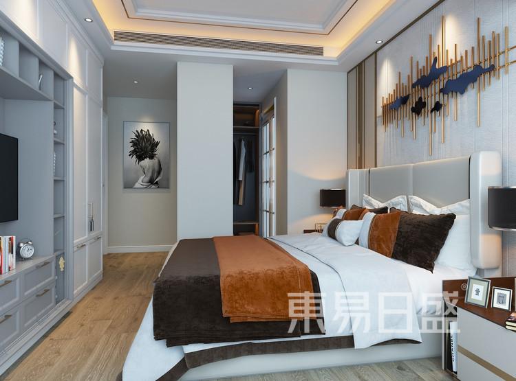 宏发前城-现代轻奢-卧室效果图