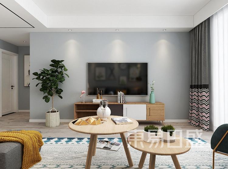 青岛装修公司-北欧设计案例-客厅装修效果图