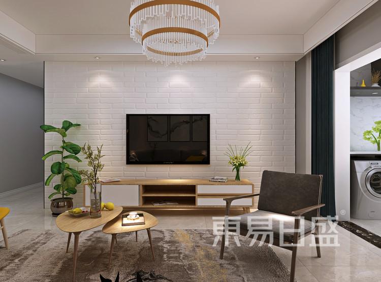 青岛装修公司-北欧风设计案例-客厅装修效果图