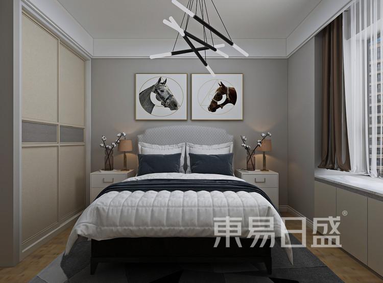 青岛装修公司-北欧风设计案例-卧室装修效果图