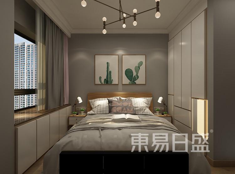 青岛装修公司-北欧设计案例-卧室装修效果图