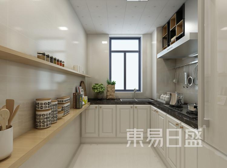青岛装修公司-北欧风设计案例-厨房装修效果图