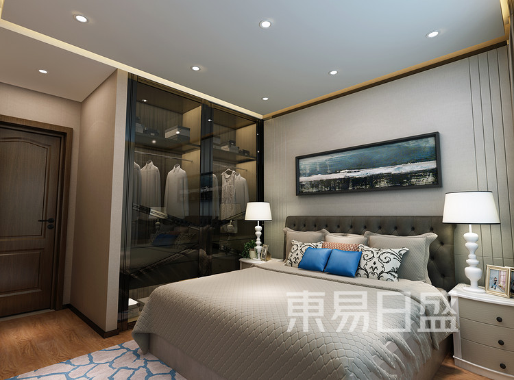 青岛装修公司-简约风设计案例-卧室装修效果图